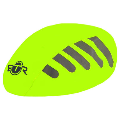 BTR Waterproof high vis fluorescent yellow bicycle helmet cover