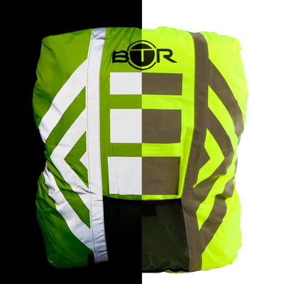 Hi vis rucksack waterproof cover day and night image