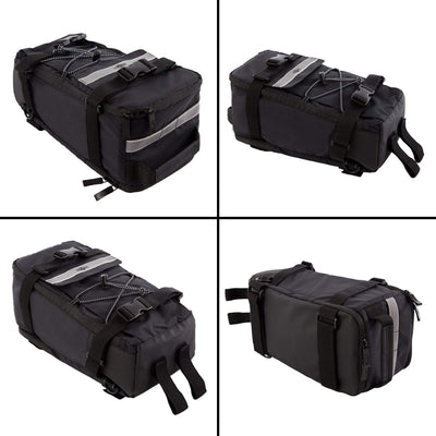 BTR Deluxe Rack Pannier Bike Bag With Shoulder Strap