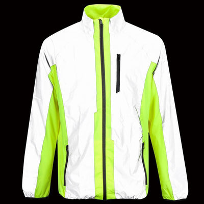 BTR Cycling & Running High Visibility Reflective Jacket Glow in Dark image