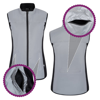 BTR Womens Reflective Cycling & Running High Vis Gilet, Vest