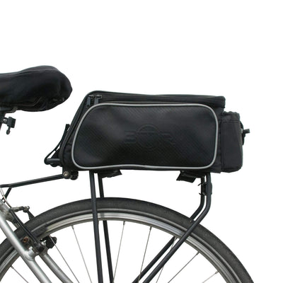 BTR Pannier Bike Bag For Bicycle Rear Racks. Water Resistant. Black