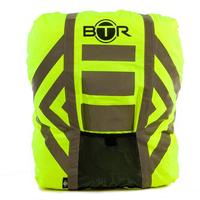 Waterproof High Vis Fluorescent Yellow Reflective rucksack cover