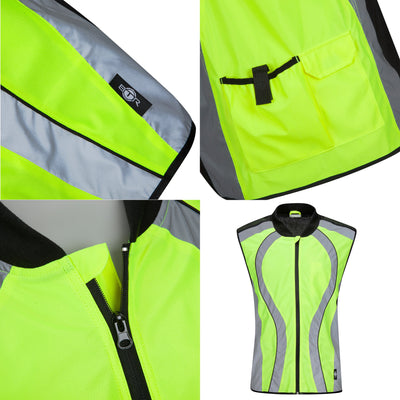 BTR High Visibility & Reflective Cycling, Running, Riding Gilet & Vest