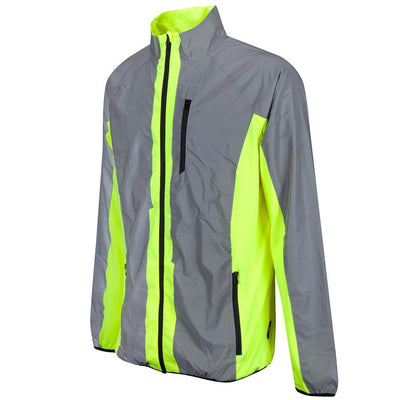 BTR Cycling & Running High Vis Reflective Jacket Side on image