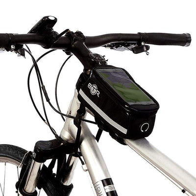 BTR Deluxe Bike Phone Bag with LED Bicycle Front & Rear Bike Lights