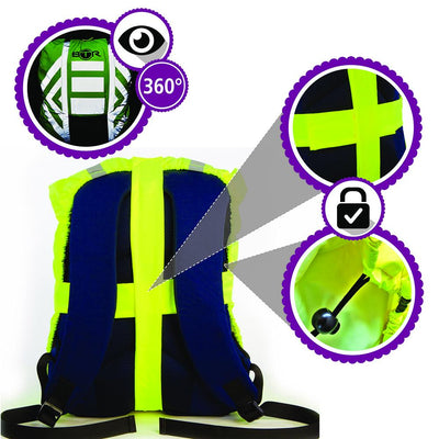Waterproof Hi Vis Reflective Backpack Covers features image