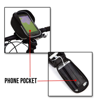 BTR Bike Phone Holder Bike Bag & Bicycle Handlebar Mobile Phone Mount