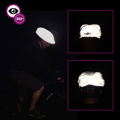 Waterproof high visibility reflective silver bicycle helmet cover multi image