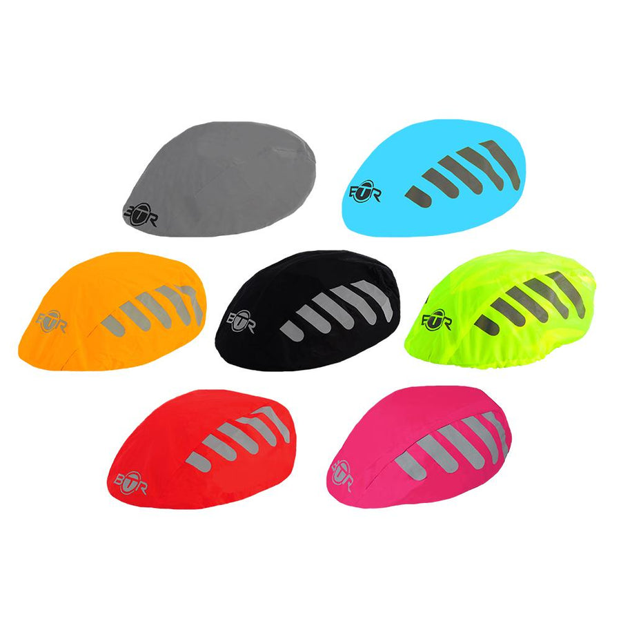 e2e0faad8b28 BTR Bicycle High Visibility Waterproof Bike Helmet Cover. High Viz