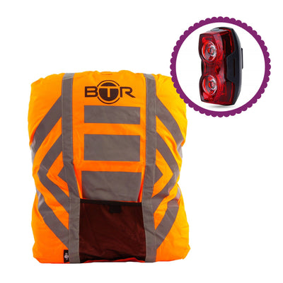Bicycle Bike MTB Waterproof Hi Viz Vis Reflective Rucksack Backpack Rain Cover