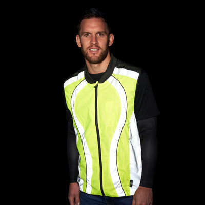 High Visibility Reflective Cycling & Running Gilet & High Vis Bands