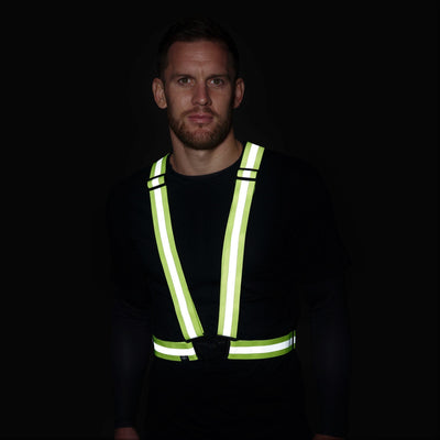 BTR Cycling & Running High Vis Reflective Fluorescent Vests, Sashes