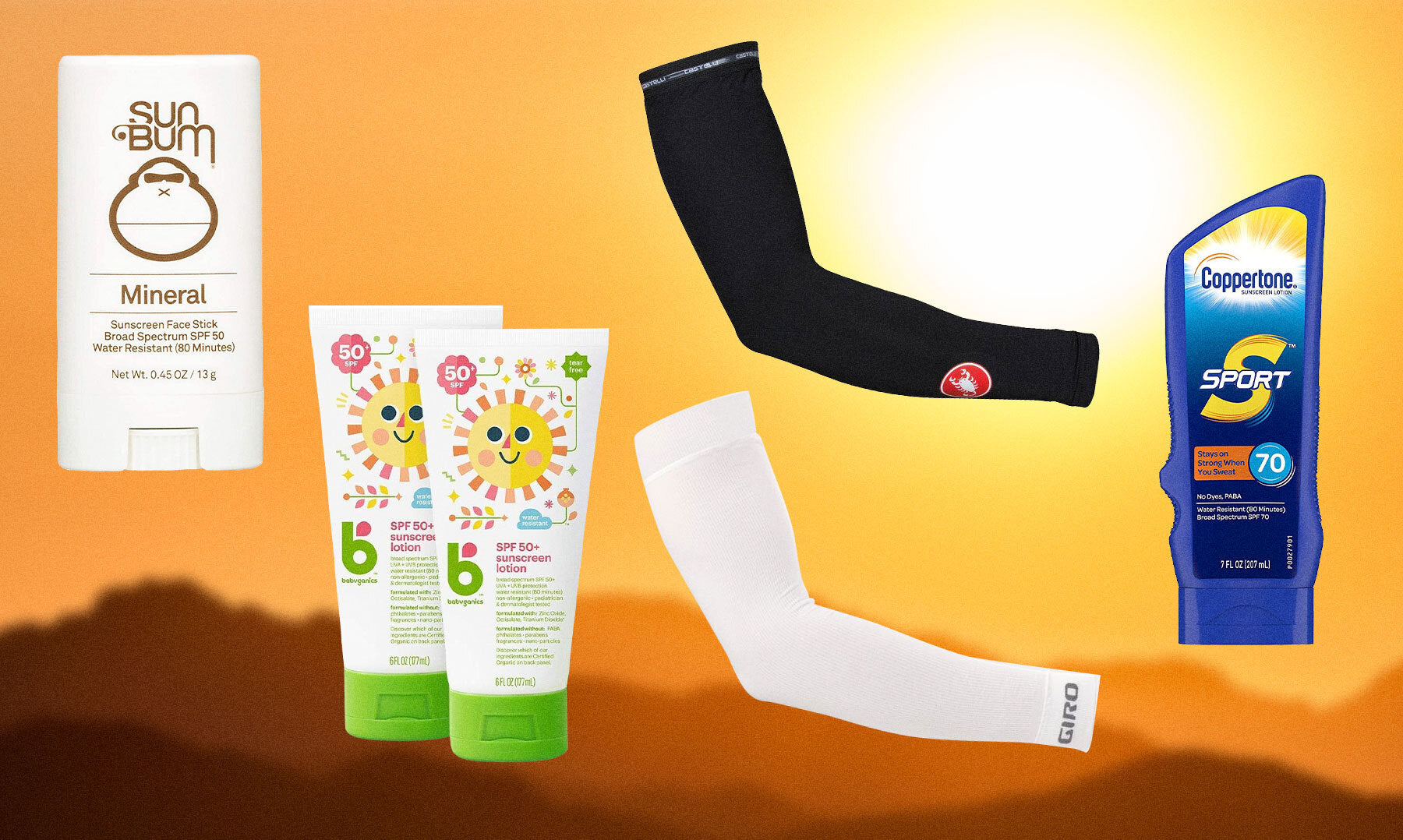 Best cycling sunscreen and sun sleeves