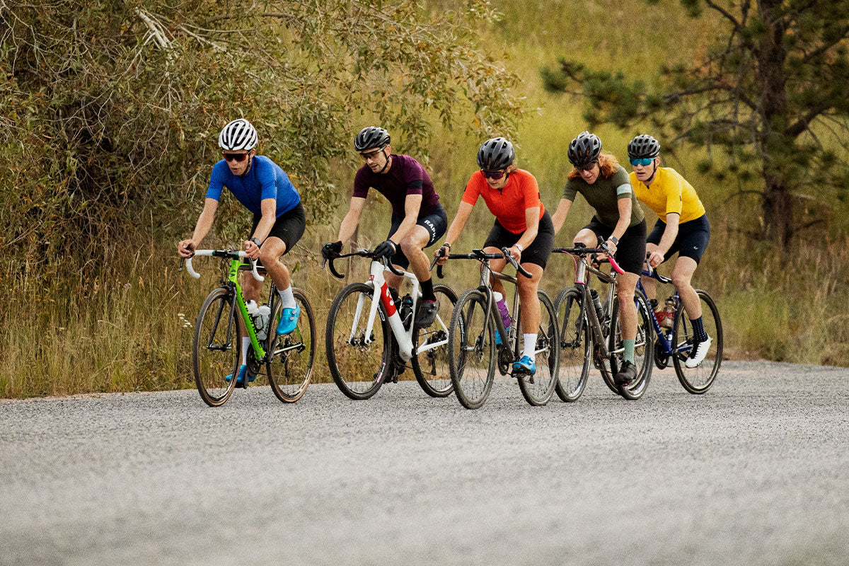 Group of cyclists riding together