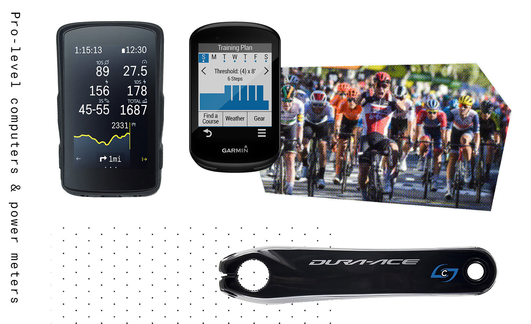 Tour de france pro level cycling computers and power meters for sale