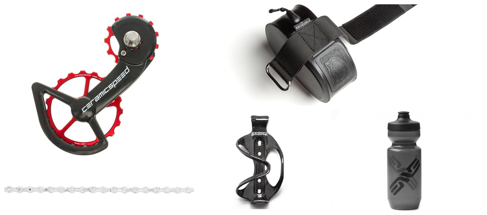 CeramicSpeed OSPW system, UFO Chain, and Arundel carbon bottle cages