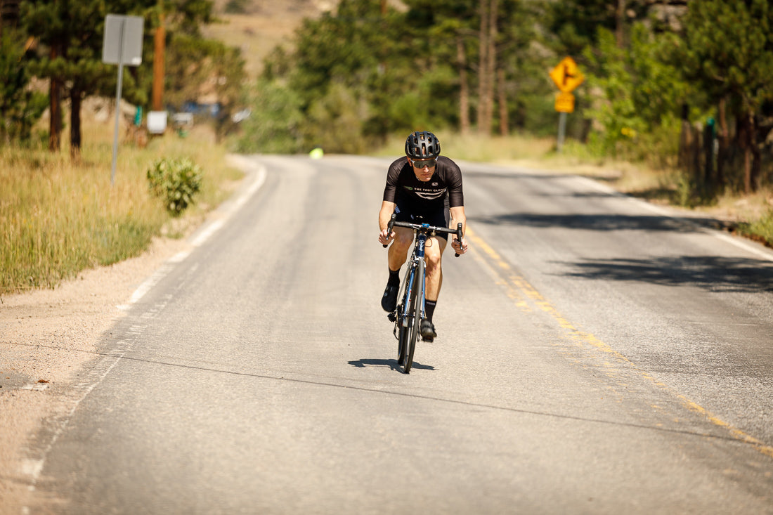 Spencer Powlison riding his road bike like a pro
