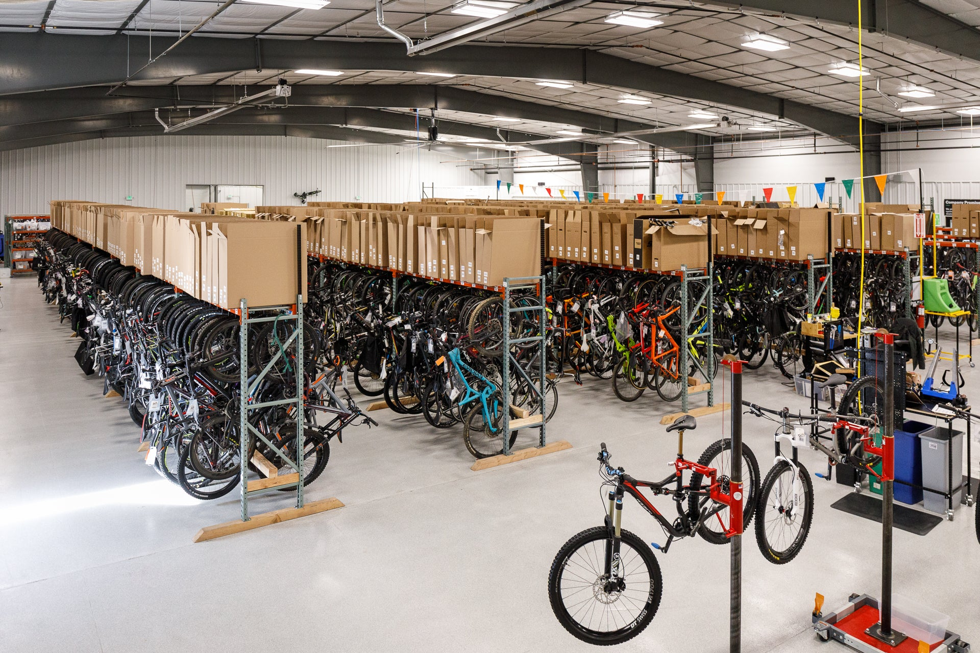 The pro's closet has huge bike selection