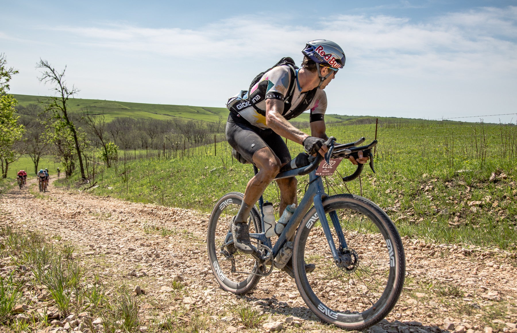 Colin Strickland making the winning move at Dirty Kanza