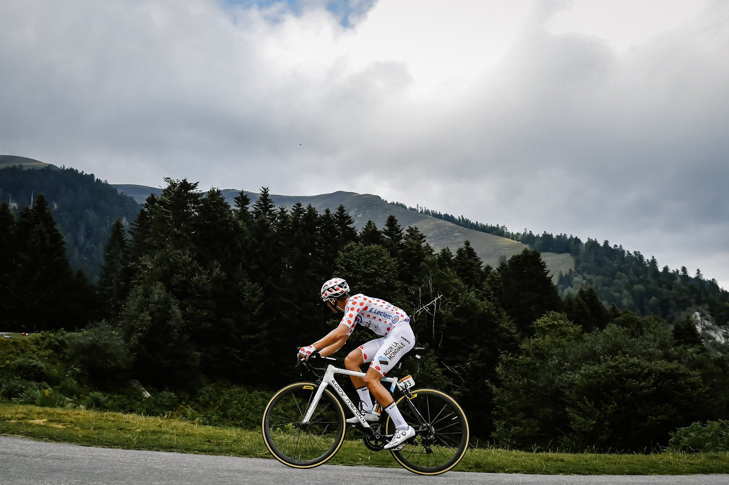 Tour de France King of the Mountains lightweight road bike components and parts