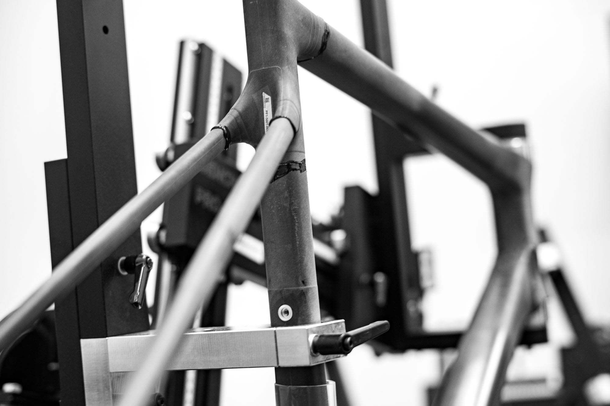 ENVE Custom road frame being built