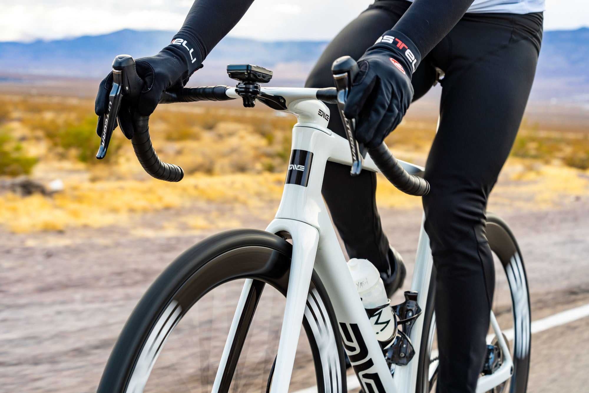 White ENVE Custom Road bikes might be faster