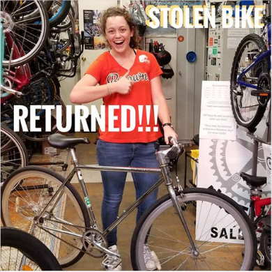 Bike Index Stolen bike recovered