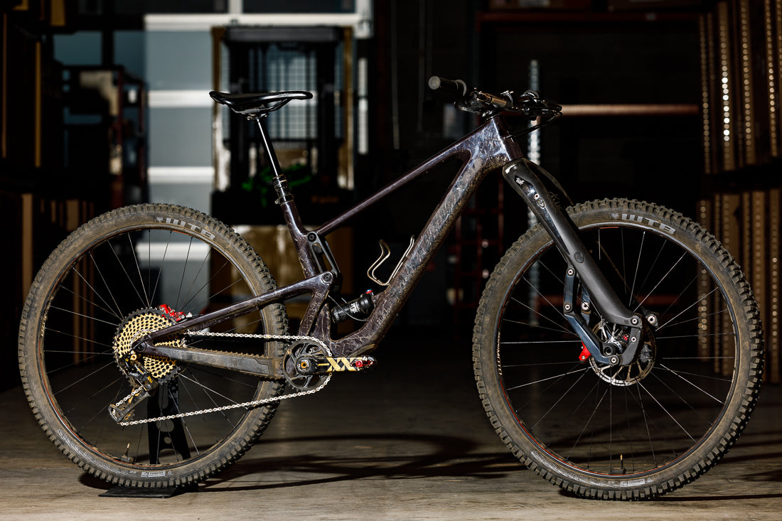 Spencer's personal Santa Cruz Tallboy 4 mountain bike