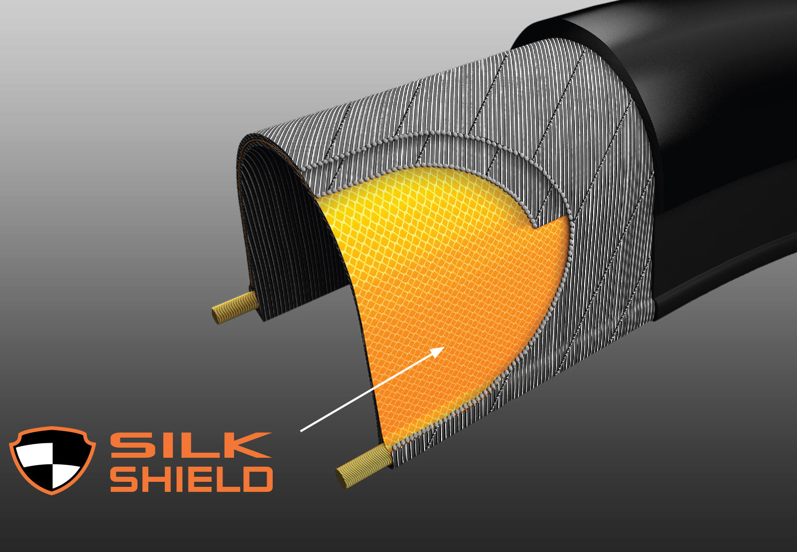 Maxxis Silkshield gravel bike tire puncture protection