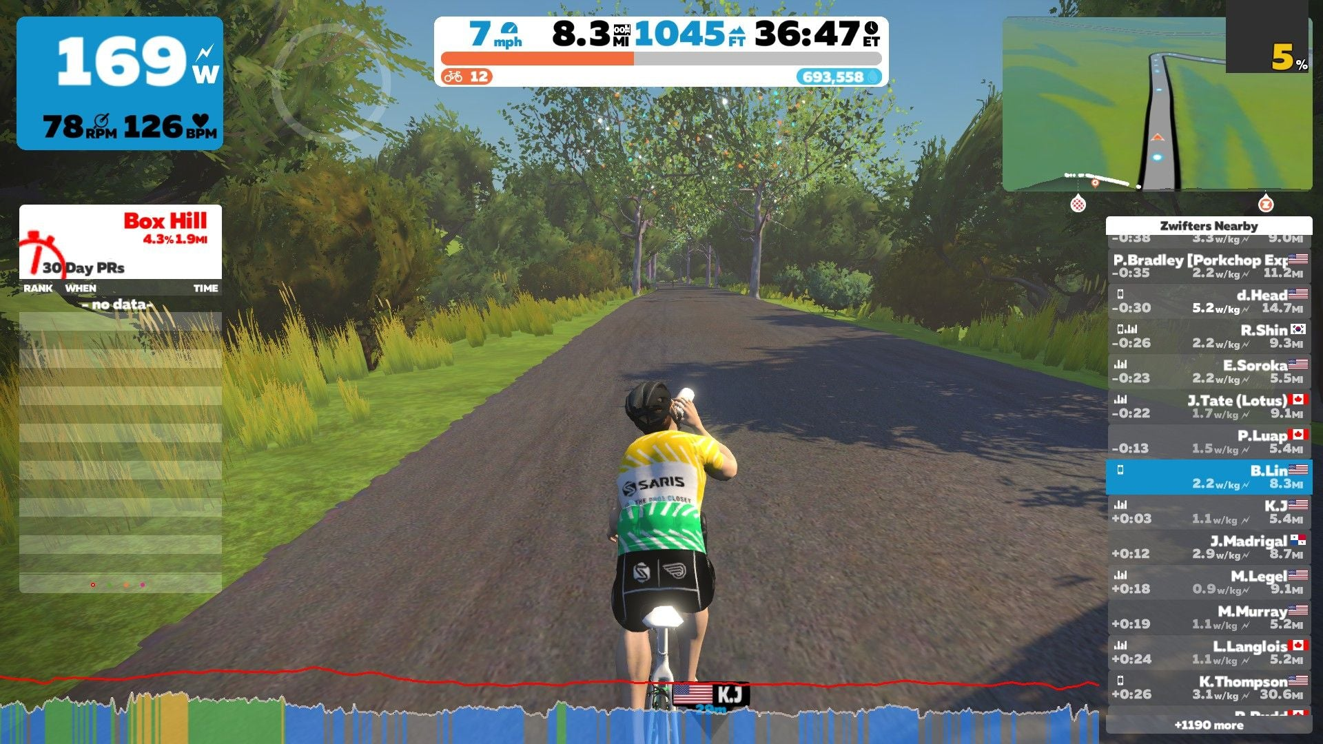 Zwift virtual world riding indoor cycling