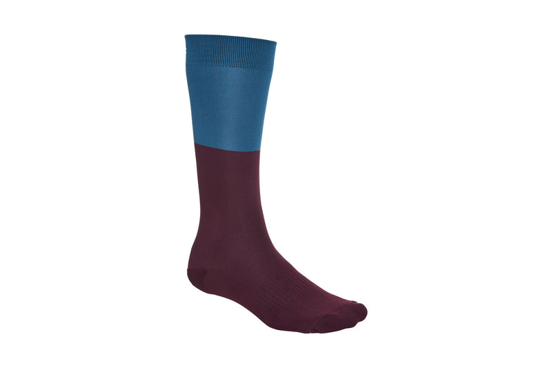 POC Essential Womens Long Socks Draconis Blue/Polypropylene Red Small drive side