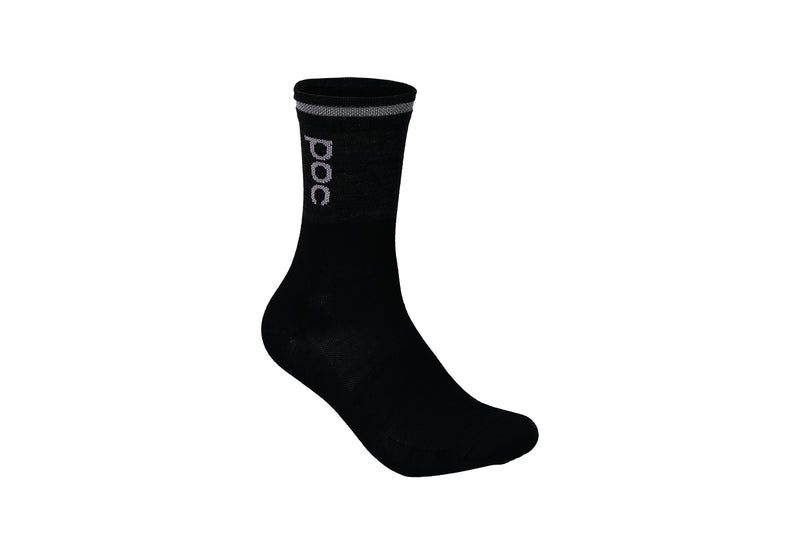 POC Thermal Sock Sylvanite Grey/Uranium Black drive side