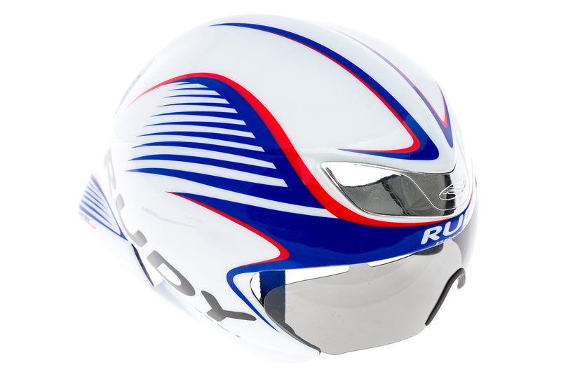 Rudy Project Wing 57 Aero Bike Helmet S/M 54-58cm White/Red/Blue drive side