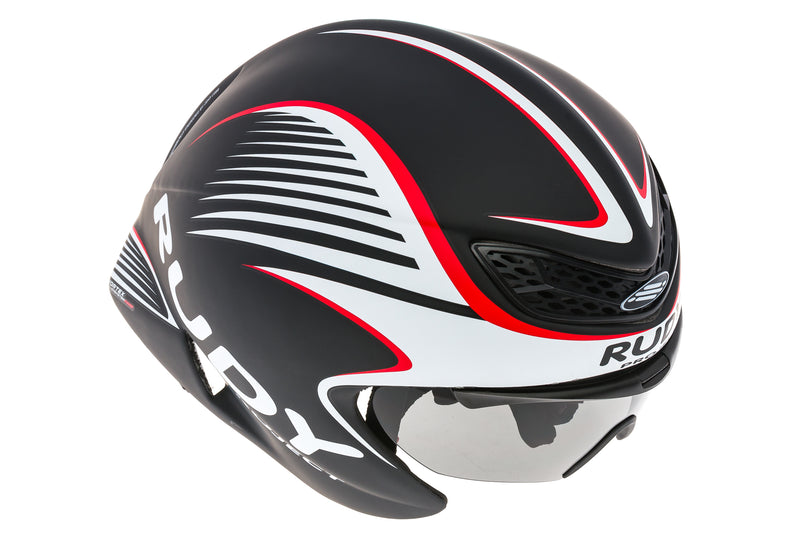 Rudy Project Wing57 Aero Bike Helmet Small / Medium 54-58cm Black / White / Red drive side