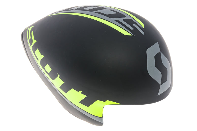Scott Spilt Time Trial Bike Helmet Small 51-55cm Black Yellow drive side