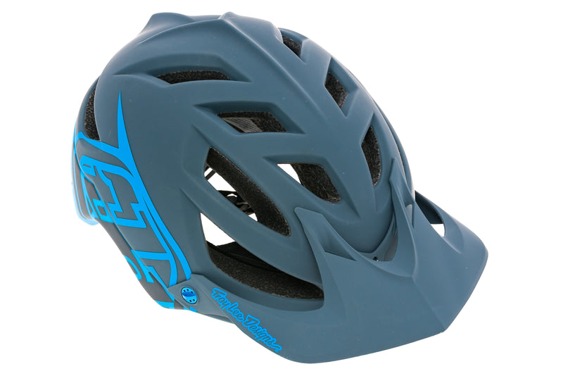 Troy Lee Designs A1 Drone Bike Helmet M-L 57-59cm Matte Gray/Ocean drive side
