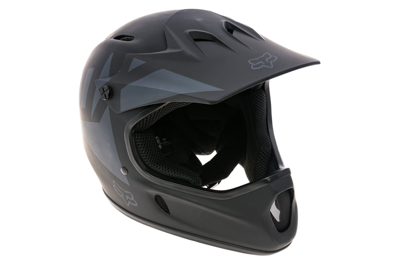 Fox Rampage Landi Full Face Bike Helmet Medium 54-56cm Matte Black drive side