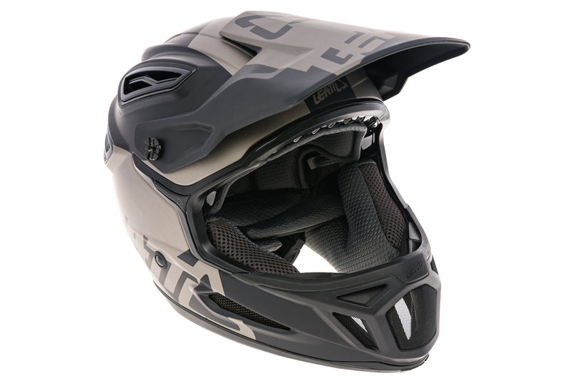 Leatt DBX 5.0 V30 Full Face Bike Helmet Small 55-56cm Matte Black/Gray drive side