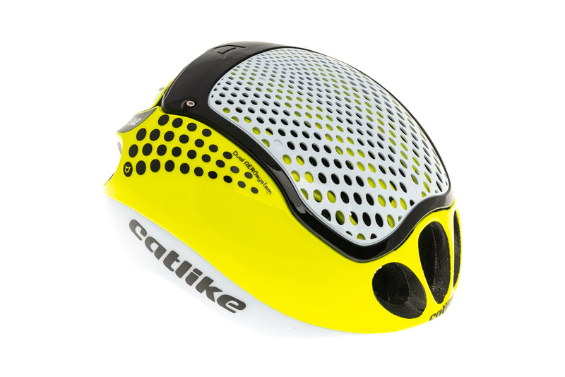 Catlike Cloud 352 Bike Helmet Medium 57-59cm White/Yellow Fluor drive side