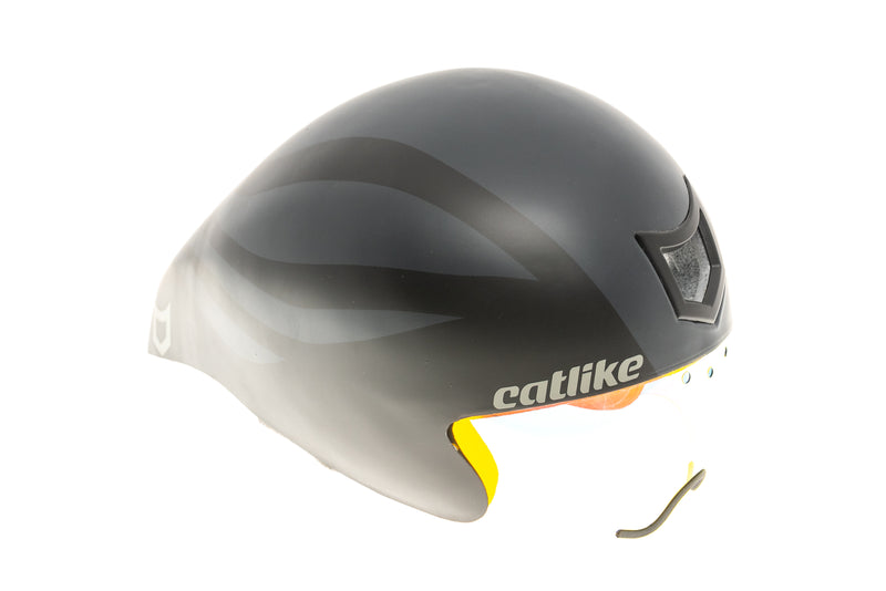 Catlike Chrono Aero WT TT Bike Helmet Small 54-56cm Black/Grey Matte drive side