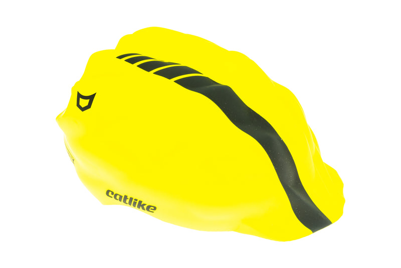 Catlike Whisper Bike Helmet Rain Shell Large Fluor/Black drive side