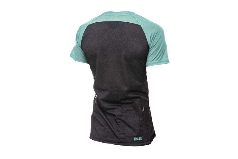IXS Progressive 7.1 SS Womens Jersey Turquoise non-drive side
