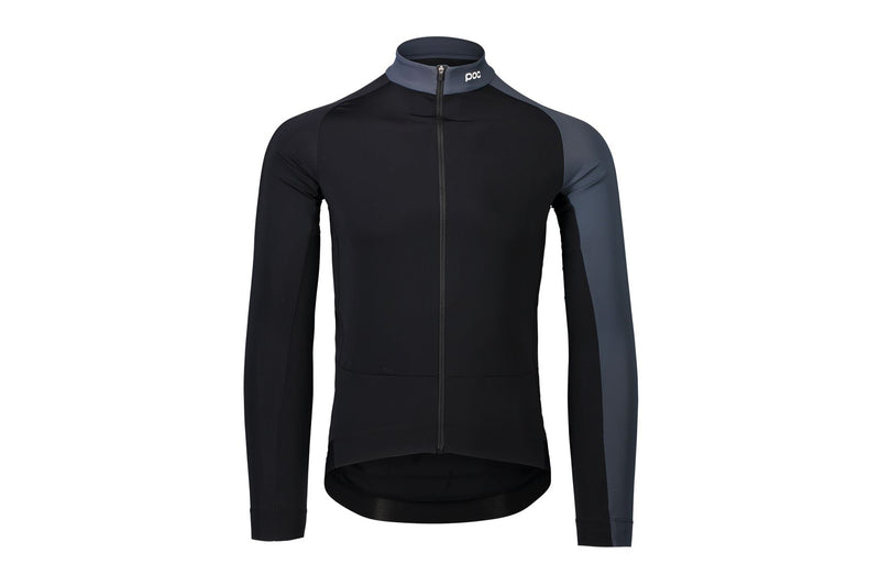 POC Essential Road Mid LS Jersey Uranium Black/Sylvanite Grey Medium drive side