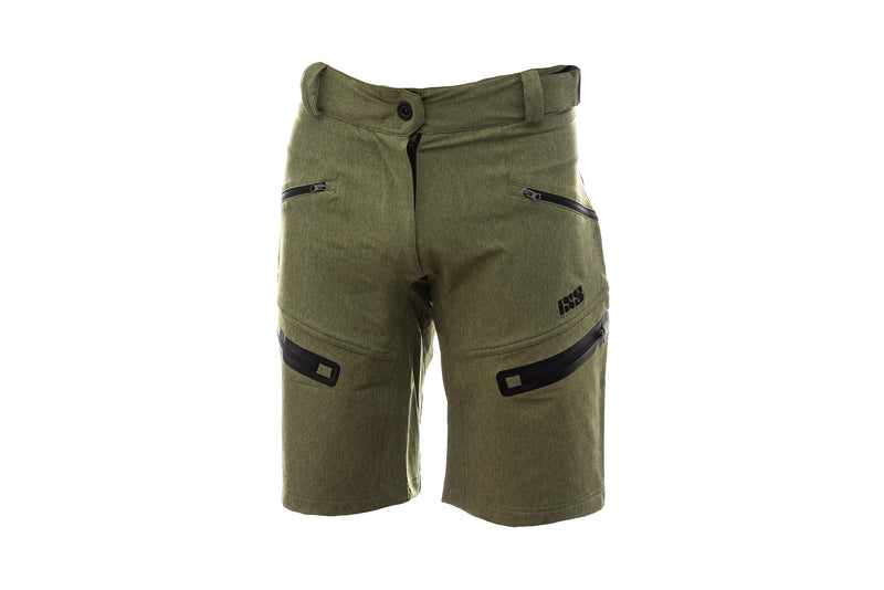 IXS Sever 6.1 Womens Shorts Olive 36 drive side