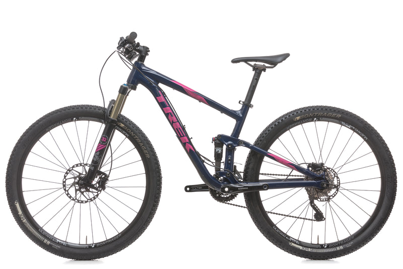 "Trek Top Fuel 8 WSD 15.5"" Womens Bike - 2016 non-drive side"