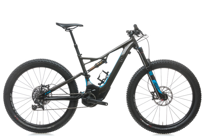 Specialized Turbo Levo FSR Expert 6Fattie Medium Mountain E-Bike - 2017 drive side