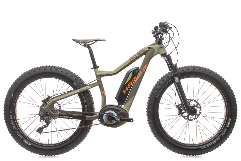2015 Haibike Fat Six 15.5in E-Bike - 2015 drive side
