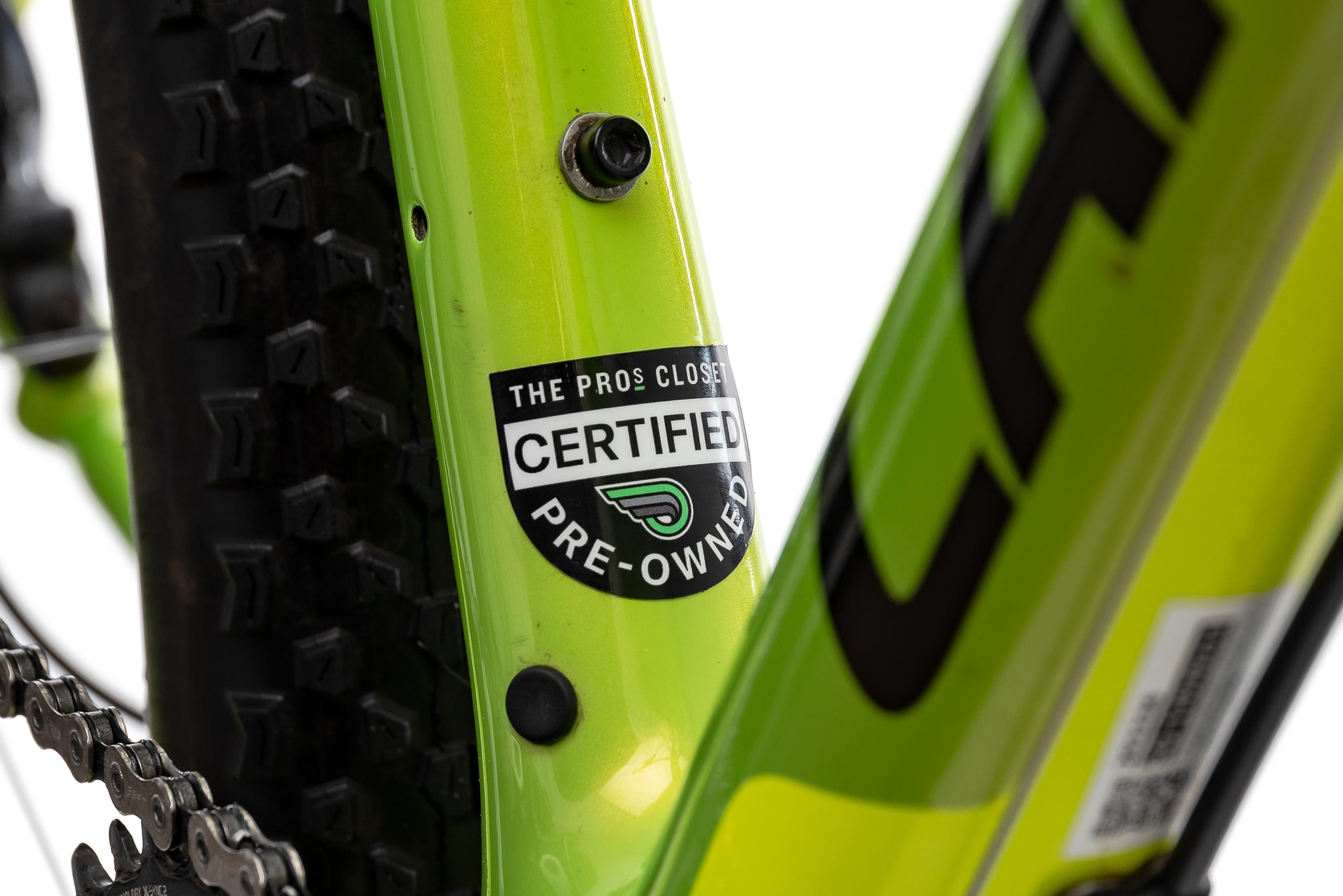 Cannondale F-Si Carbon 2 Mountain Bike - 2018, Large sticker