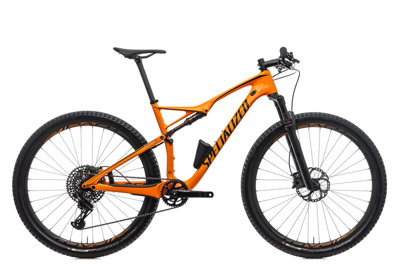 Specialized Epic FSR Pro Carbon World Cup Mountain Bike - 2017, Large drive side